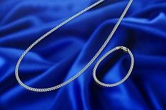 喜平鎖2面カットゲルマニウムネックレスまたはブレスレット