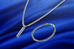 喜平鎖6面カットゲルマニウムネックレスまたはブレスレット